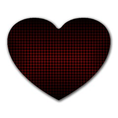 Optical Illusion Grid in Black and Red Heart Mousepads