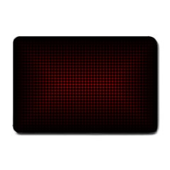 Optical Illusion Grid in Black and Red Small Doormat