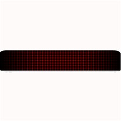 Optical Illusion Grid in Black and Red Small Bar Mats