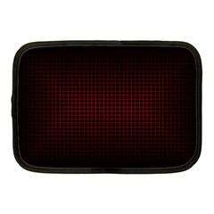 Optical Illusion Grid In Black And Red Netbook Case (medium)