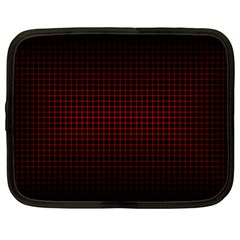 Optical Illusion Grid in Black and Red Netbook Case (Large)