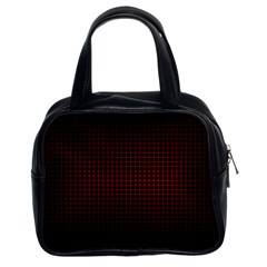 Optical Illusion Grid in Black and Red Classic Handbags (2 Sides)