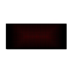 Optical Illusion Grid in Black and Red Cosmetic Storage Cases