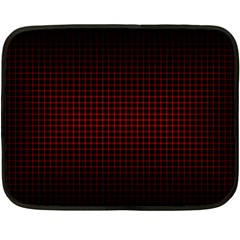 Optical Illusion Grid in Black and Red Double Sided Fleece Blanket (Mini)