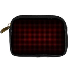 Optical Illusion Grid in Black and Red Digital Camera Cases