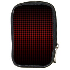 Optical Illusion Grid in Black and Red Compact Camera Cases