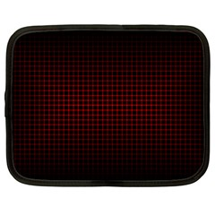 Optical Illusion Grid in Black and Red Netbook Case (XL)