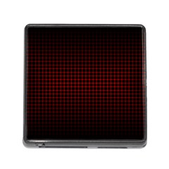 Optical Illusion Grid in Black and Red Memory Card Reader (Square)