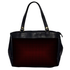 Optical Illusion Grid in Black and Red Office Handbags (2 Sides)