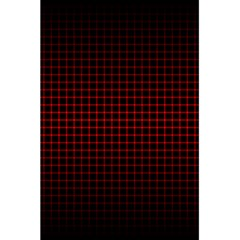 Optical Illusion Grid in Black and Red 5.5  x 8.5  Notebooks
