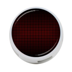 Optical Illusion Grid in Black and Red 4-Port USB Hub (Two Sides)
