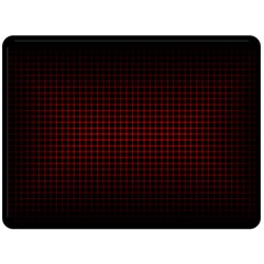 Optical Illusion Grid in Black and Red Fleece Blanket (Large)