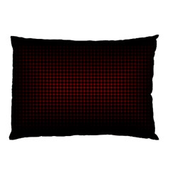 Optical Illusion Grid in Black and Red Pillow Case (Two Sides)