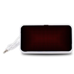 Optical Illusion Grid in Black and Red Portable Speaker (White)
