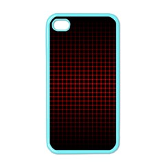 Optical Illusion Grid in Black and Red Apple iPhone 4 Case (Color)