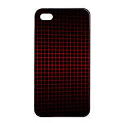 Optical Illusion Grid in Black and Red Apple iPhone 4/4s Seamless Case (Black)