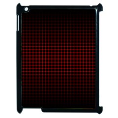 Optical Illusion Grid in Black and Red Apple iPad 2 Case (Black)