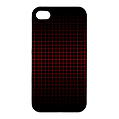 Optical Illusion Grid in Black and Red Apple iPhone 4/4S Premium Hardshell Case