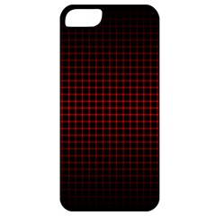 Optical Illusion Grid in Black and Red Apple iPhone 5 Classic Hardshell Case