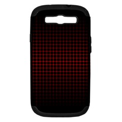 Optical Illusion Grid in Black and Red Samsung Galaxy S III Hardshell Case (PC+Silicone)