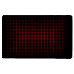 Optical Illusion Grid in Black and Red Apple iPad 2 Flip Case