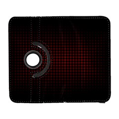 Optical Illusion Grid in Black and Red Galaxy S3 (Flip/Folio)