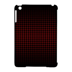Optical Illusion Grid in Black and Red Apple iPad Mini Hardshell Case (Compatible with Smart Cover)