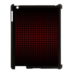 Optical Illusion Grid in Black and Red Apple iPad 3/4 Case (Black)