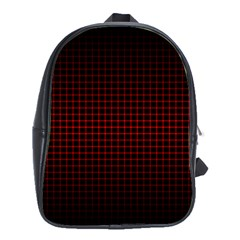 Optical Illusion Grid in Black and Red School Bags (XL)