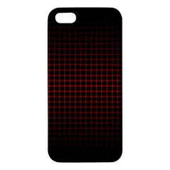 Optical Illusion Grid in Black and Red Apple iPhone 5 Premium Hardshell Case