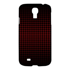 Optical Illusion Grid in Black and Red Samsung Galaxy S4 I9500/I9505 Hardshell Case