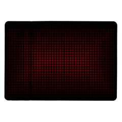 Optical Illusion Grid in Black and Red Samsung Galaxy Tab 10.1  P7500 Flip Case