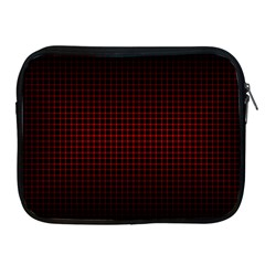 Optical Illusion Grid in Black and Red Apple iPad 2/3/4 Zipper Cases