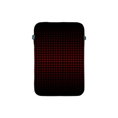 Optical Illusion Grid in Black and Red Apple iPad Mini Protective Soft Cases