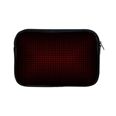 Optical Illusion Grid in Black and Red Apple iPad Mini Zipper Cases
