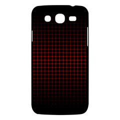 Optical Illusion Grid in Black and Red Samsung Galaxy Mega 5.8 I9152 Hardshell Case