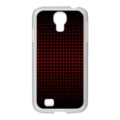 Optical Illusion Grid in Black and Red Samsung GALAXY S4 I9500/ I9505 Case (White)