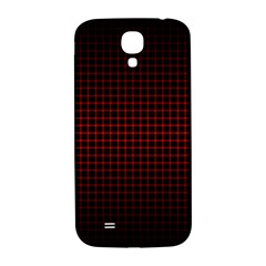 Optical Illusion Grid in Black and Red Samsung Galaxy S4 I9500/I9505  Hardshell Back Case