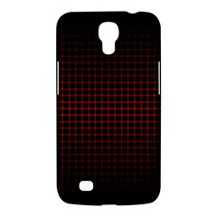 Optical Illusion Grid in Black and Red Samsung Galaxy Mega 6.3  I9200 Hardshell Case