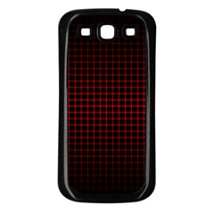 Optical Illusion Grid In Black And Red Samsung Galaxy S3 Back Case (black)