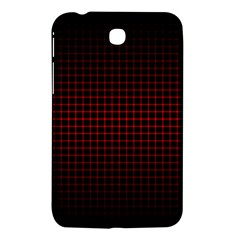 Optical Illusion Grid in Black and Red Samsung Galaxy Tab 3 (7 ) P3200 Hardshell Case