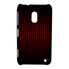 Optical Illusion Grid in Black and Red Nokia Lumia 620