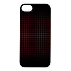 Optical Illusion Grid in Black and Red Apple iPhone 5S/ SE Hardshell Case