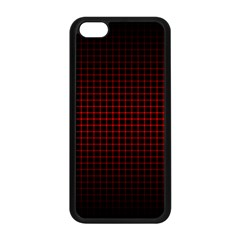 Optical Illusion Grid in Black and Red Apple iPhone 5C Seamless Case (Black)