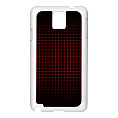 Optical Illusion Grid in Black and Red Samsung Galaxy Note 3 N9005 Case (White)