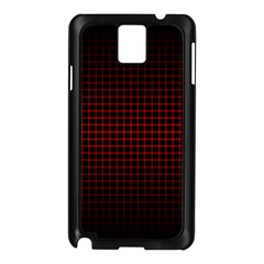 Optical Illusion Grid in Black and Red Samsung Galaxy Note 3 N9005 Case (Black)
