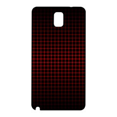 Optical Illusion Grid in Black and Red Samsung Galaxy Note 3 N9005 Hardshell Back Case