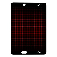 Optical Illusion Grid in Black and Red Amazon Kindle Fire HD (2013) Hardshell Case