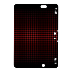 Optical Illusion Grid in Black and Red Kindle Fire HDX 8.9  Hardshell Case