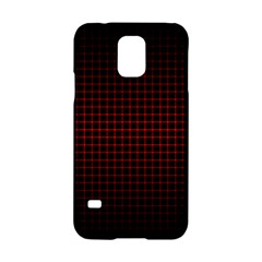 Optical Illusion Grid in Black and Red Samsung Galaxy S5 Hardshell Case